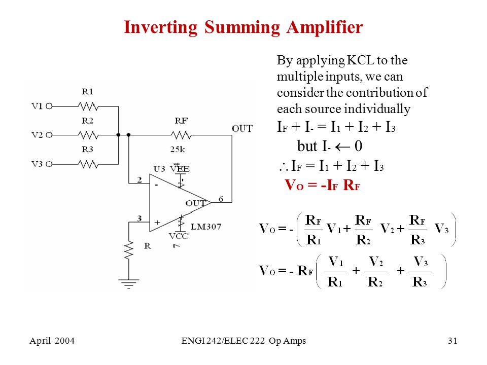 Inverting Summing Amplifier