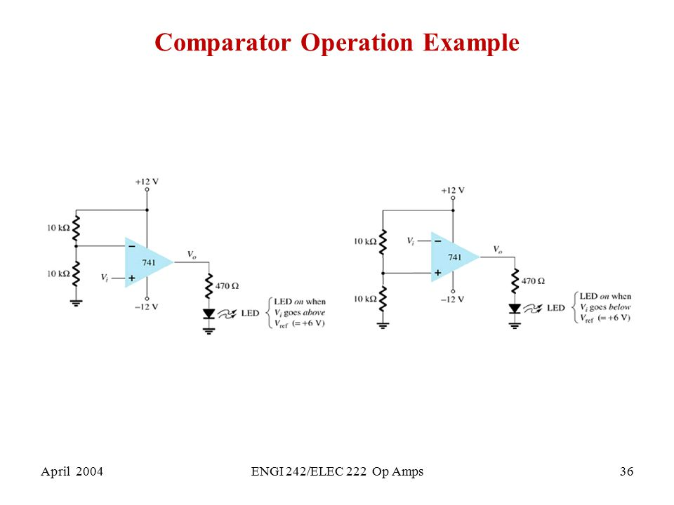 Comparator Operation Example