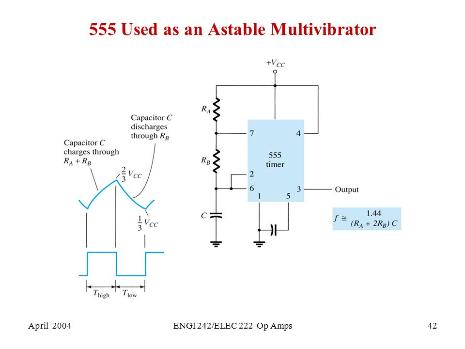555 Used as an Astable Multivibrator