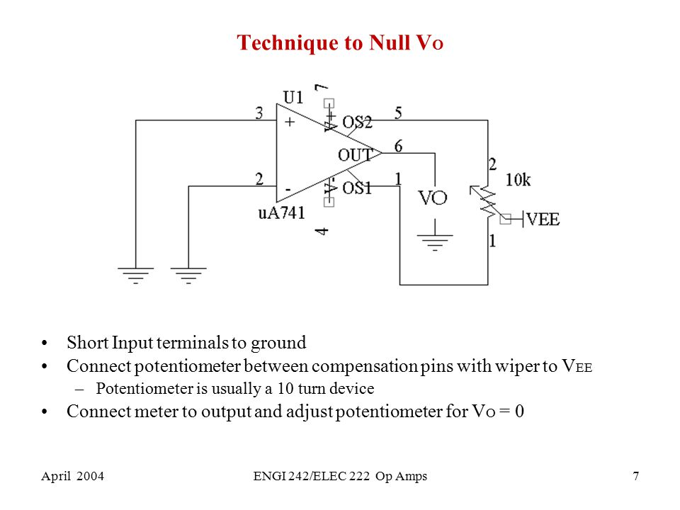 Technique to Null VO Short Input terminals to ground