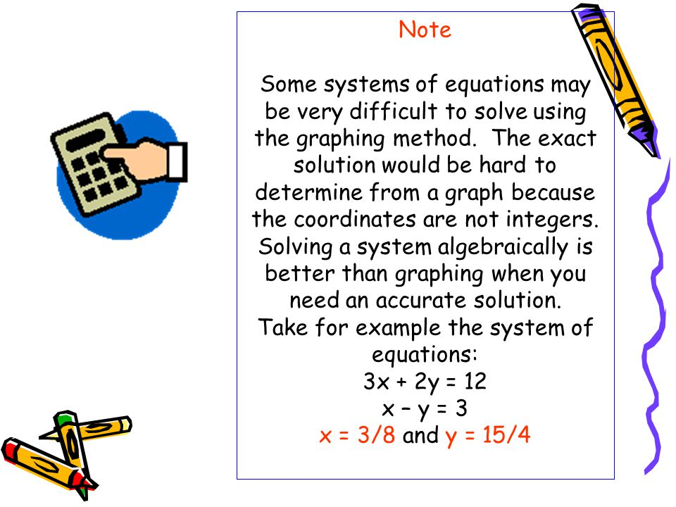 Solving Systems of Equations - ppt video online download