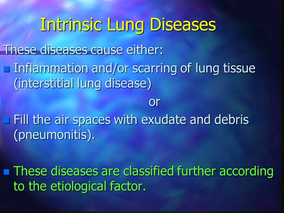 Intrinsic Lung Diseases