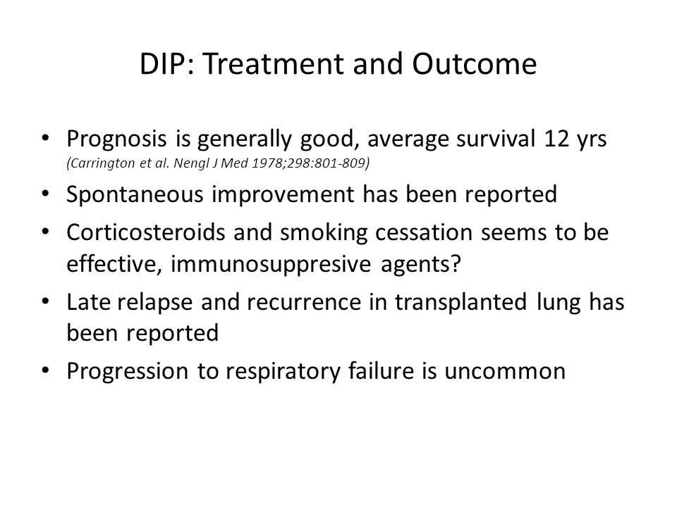 DIP: Treatment and Outcome