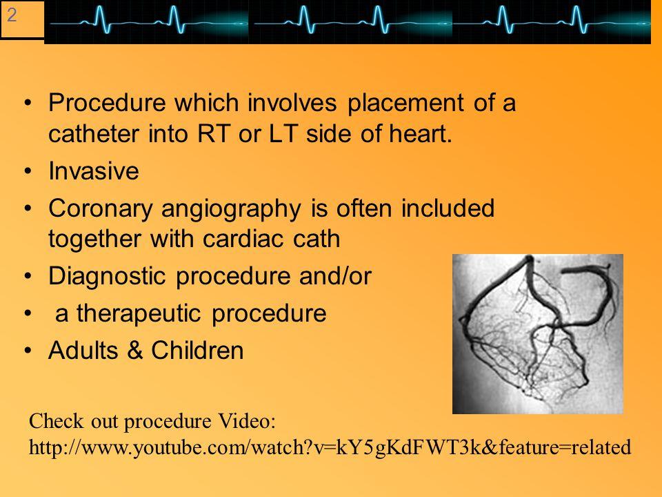 Coronary Angio Cardiac Cath Ablation Procedures Lecture 3 A