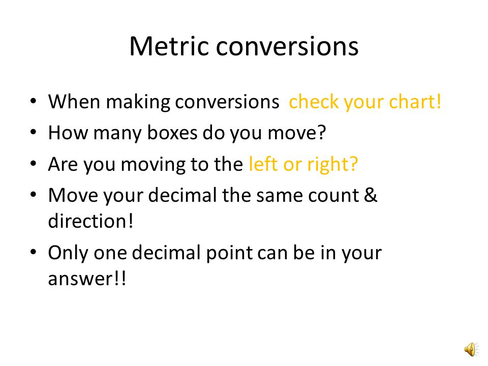 Metric Conversion Chart Ppt Video Online Download