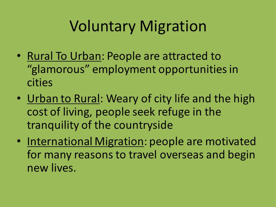 causes of voluntary migration