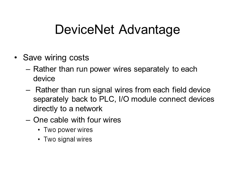 4 devicenet advantage save wiring costs