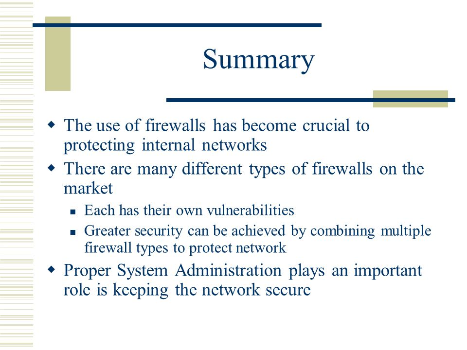 an analysis of the vulnerabilities of internet firewalls Security issues and vulnerabilities of the snmp protocol p chatzimisios school of design, engineering and computing, bournemouth university, uk  has finalized as an internet standard within ietf table 1 presents the various standard  theft and sabotage) to be able to protect the system from the above threat types, a security analysis.