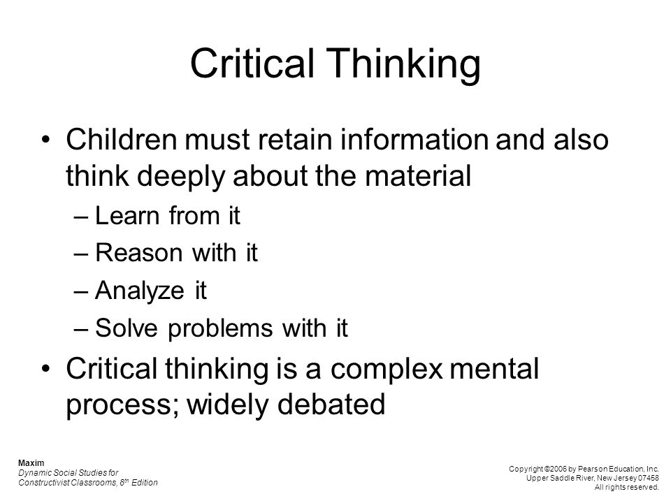 critical thinking 20 essay Example essay on critical thinking we have many different levels of thinking some of the things that we do in our lives, such as breathing, walking, blinking, etc become almost instinctive and we really do not have to think much about them.
