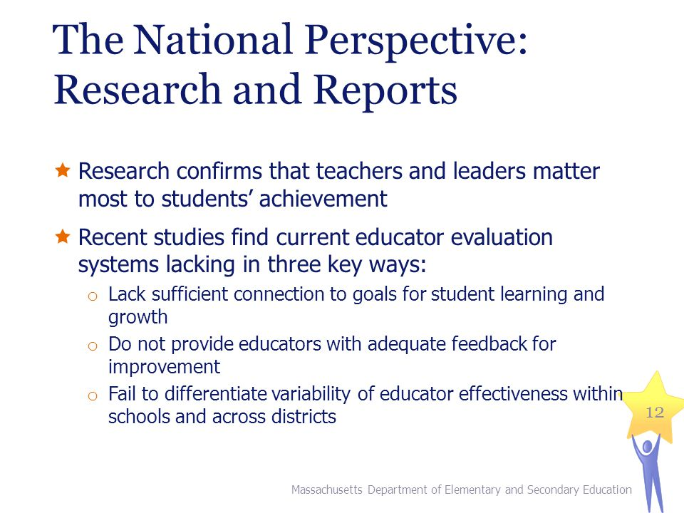 The National Perspective: Research and Reports