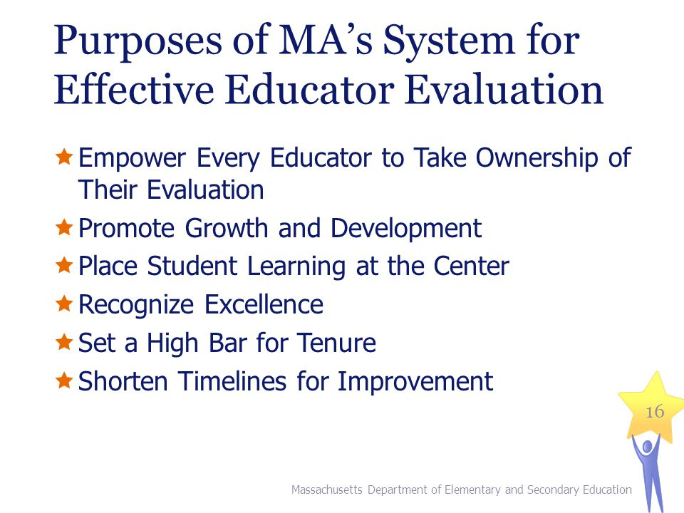 Purposes of MA's System for Effective Educator Evaluation