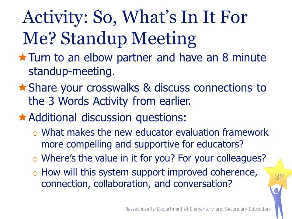 Activity: So, What's In It For Me Standup Meeting