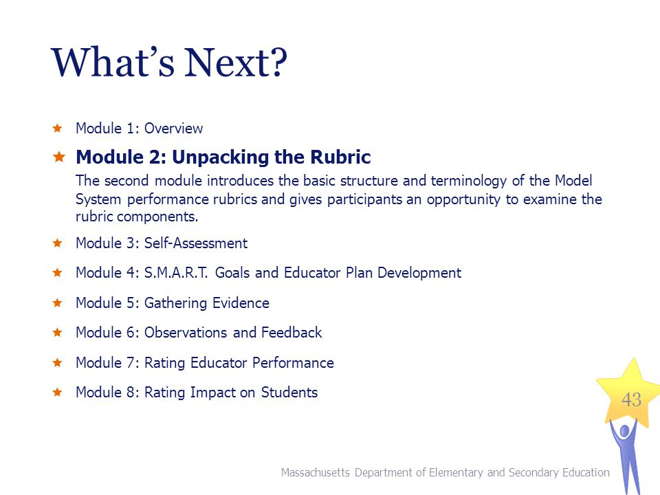What's Next Module 2: Unpacking the Rubric