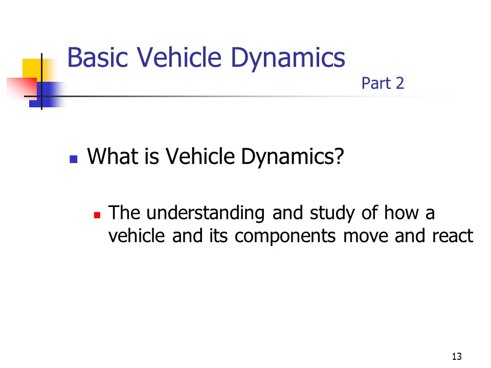 Basic Vehicle Dynamics Part 2