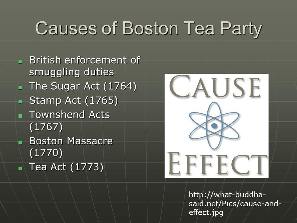 Causes Of Boston Tea Party