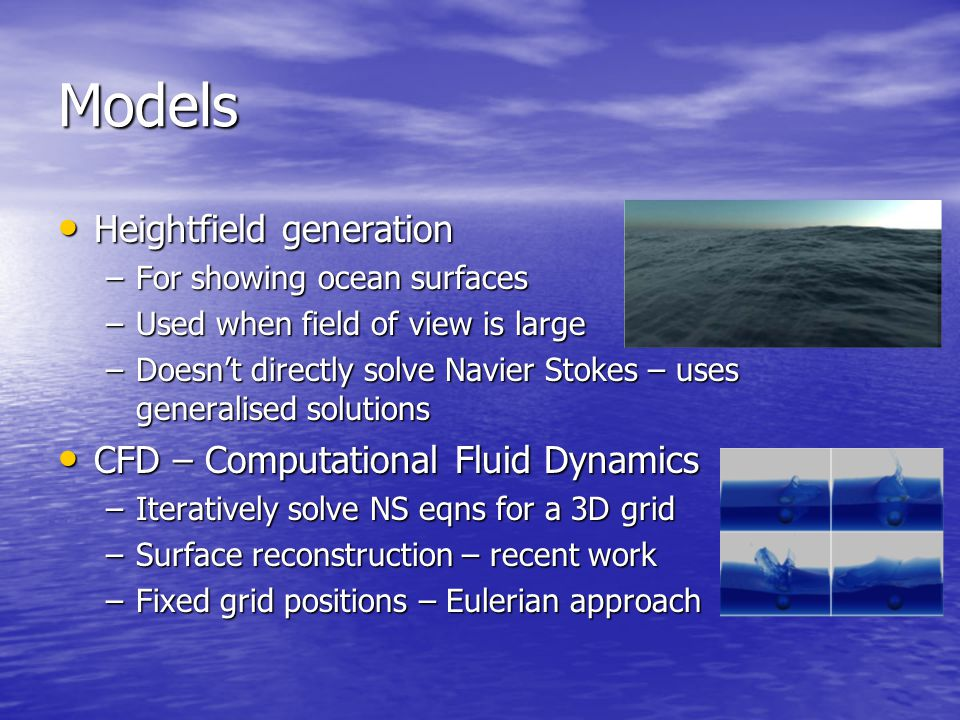 Fluid Simulation for Graphics - ppt video online download