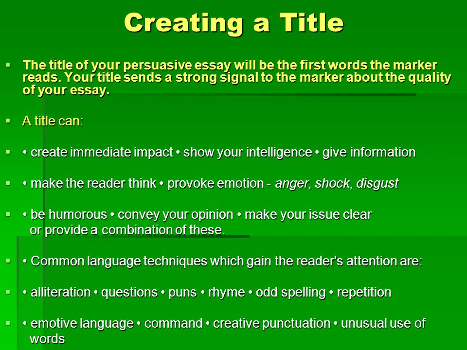 how to pick a title for an essay
