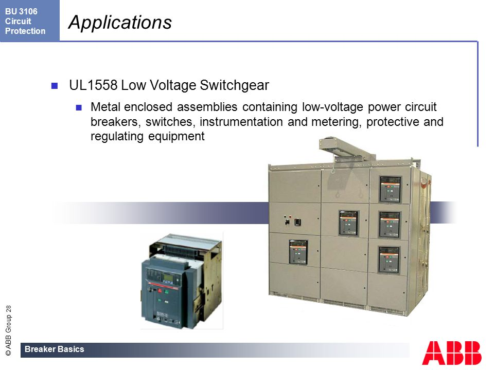 Breaker Basics Welcome to this general overview of ABB  - ppt download
