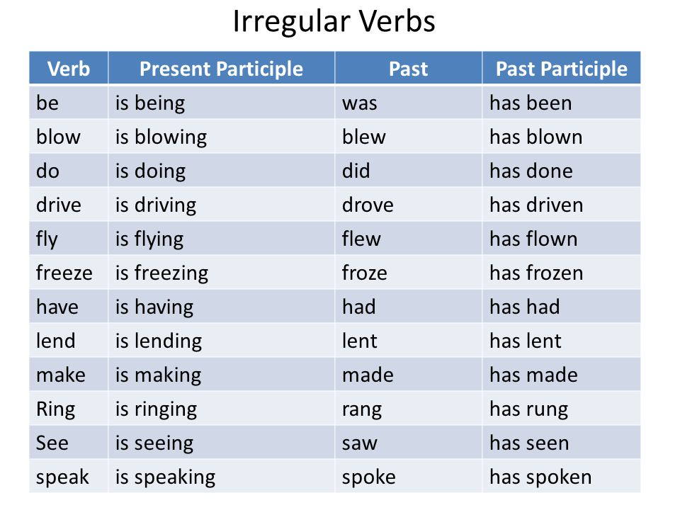 verb fly in past tense