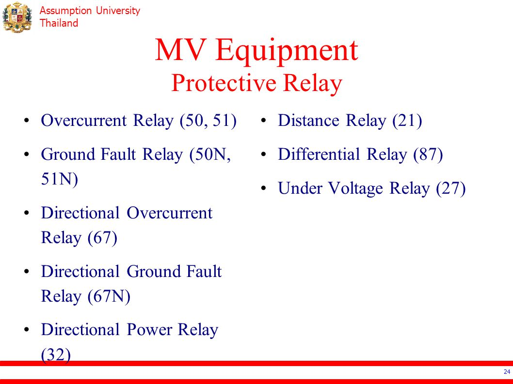 Ee4503 Electrical Systems Design Ppt Video Online Download Directional Relay Mv Equipment Protective