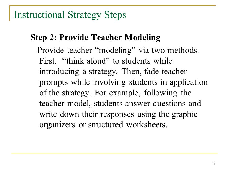 Effective Instructional Strategies For Correctional Education