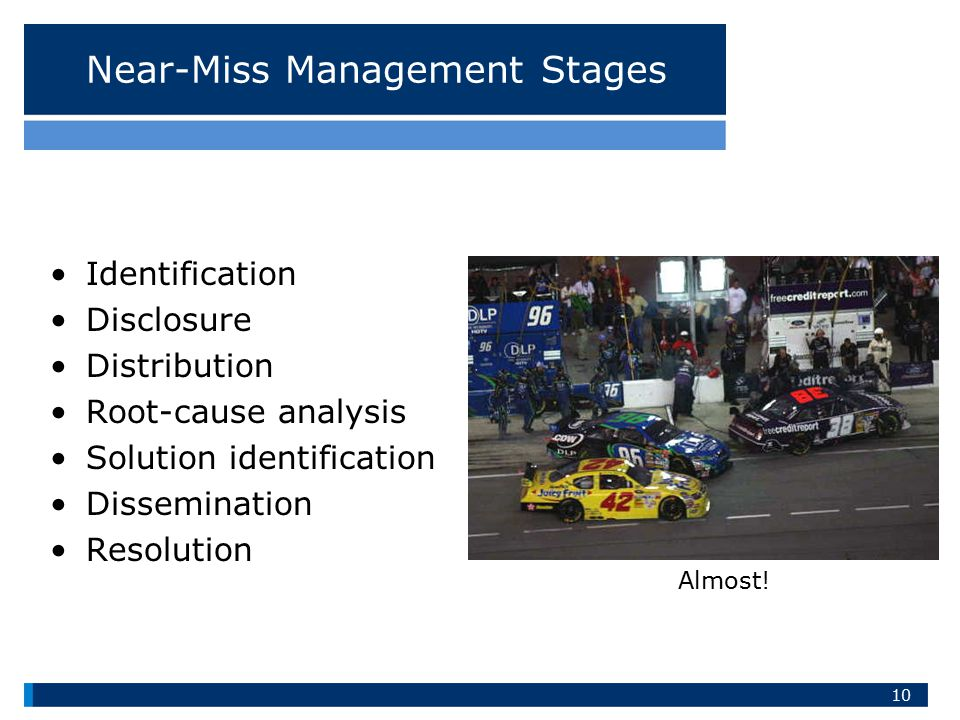 Near-Miss Management Stages