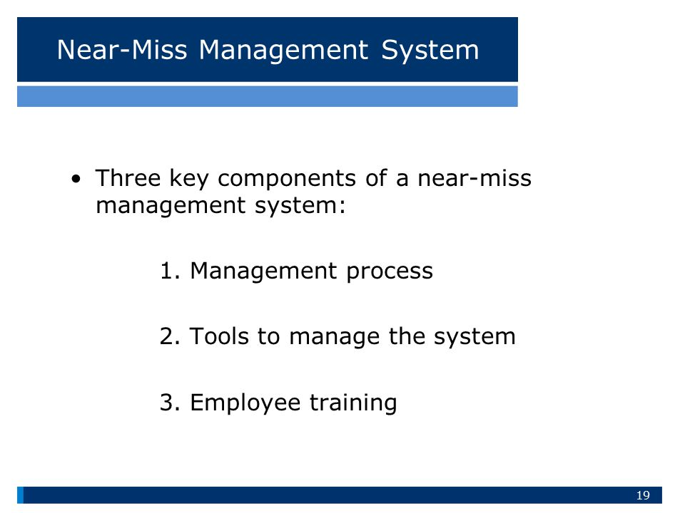 Near-Miss Management System