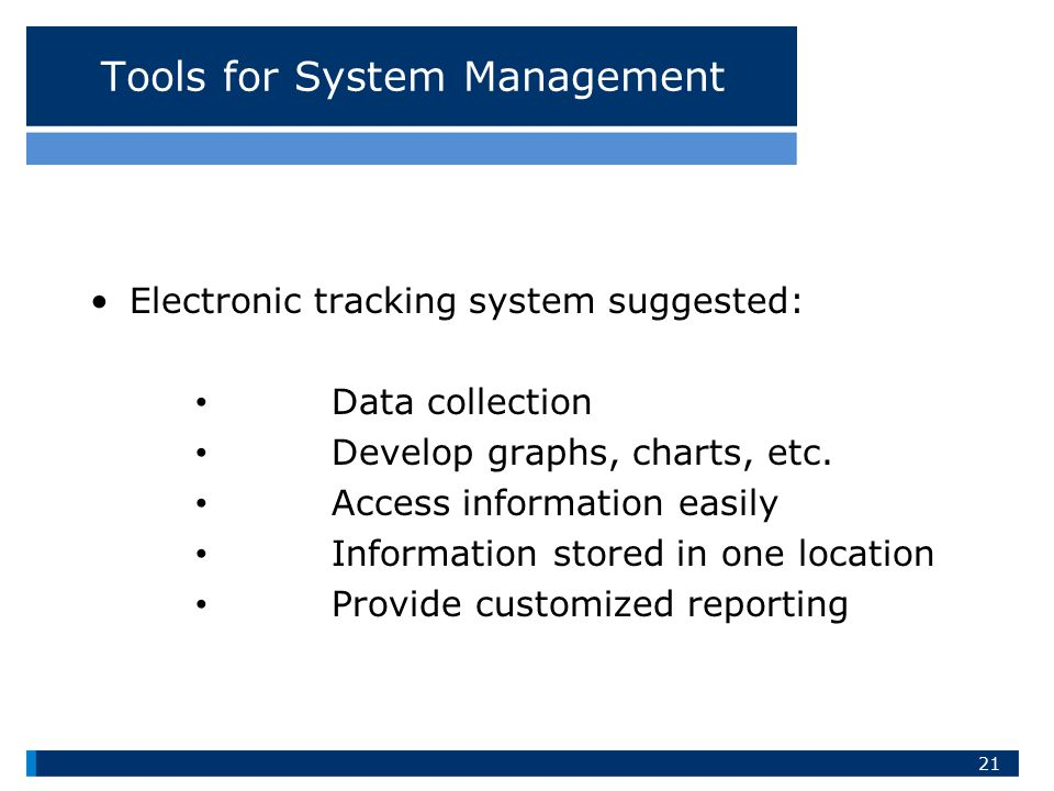 Tools for System Management