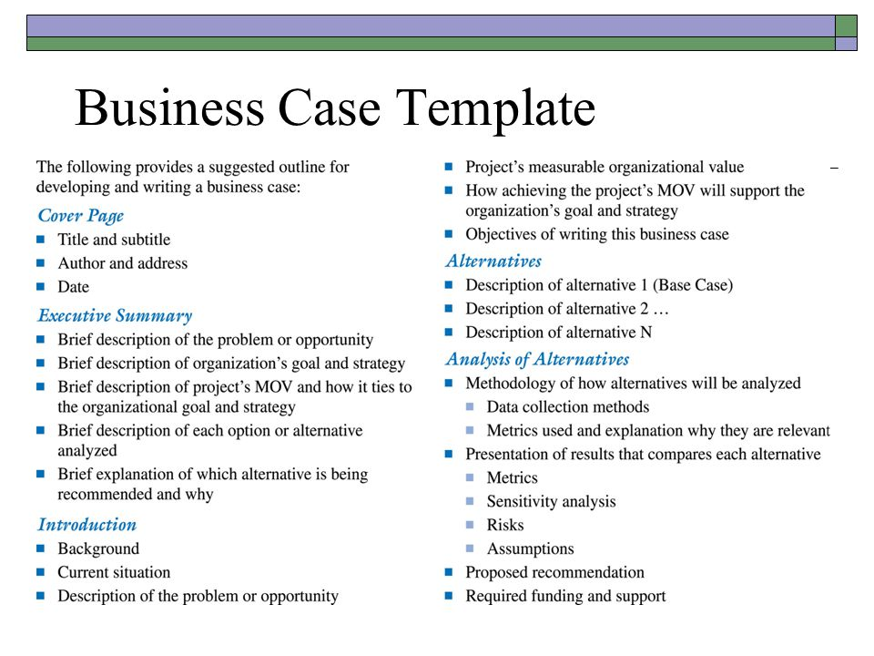 The business case one version ppt video online download 26 business case template friedricerecipe Image collections