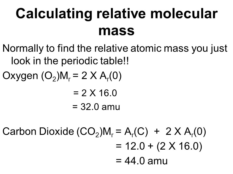 The mass of particles relative isotopic mass relative atomic mass calculating relative molecular mass urtaz Images