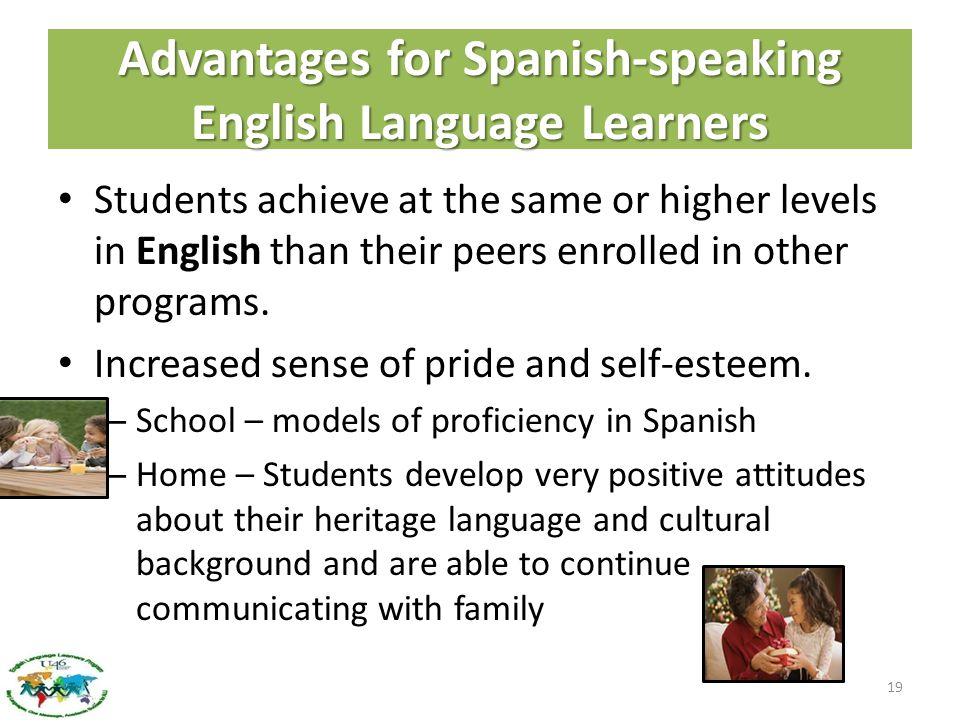 Advantages for Spanish-speaking English Language Learners