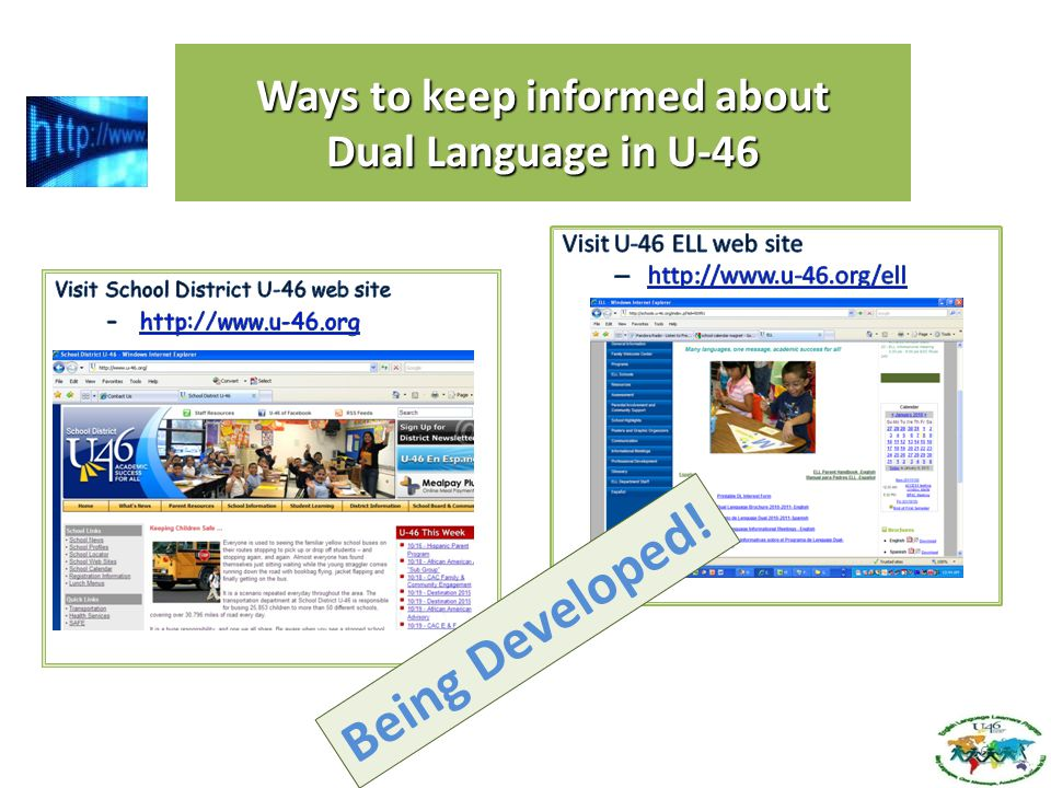 Ways to keep informed about Dual Language in U-46