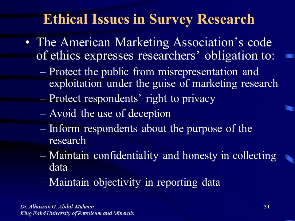 ethics surveys communication methods in survey research reference 6656