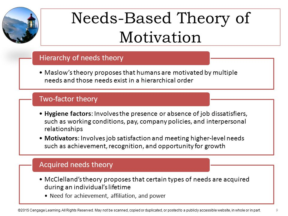 Needs-Based Theory of Motivation