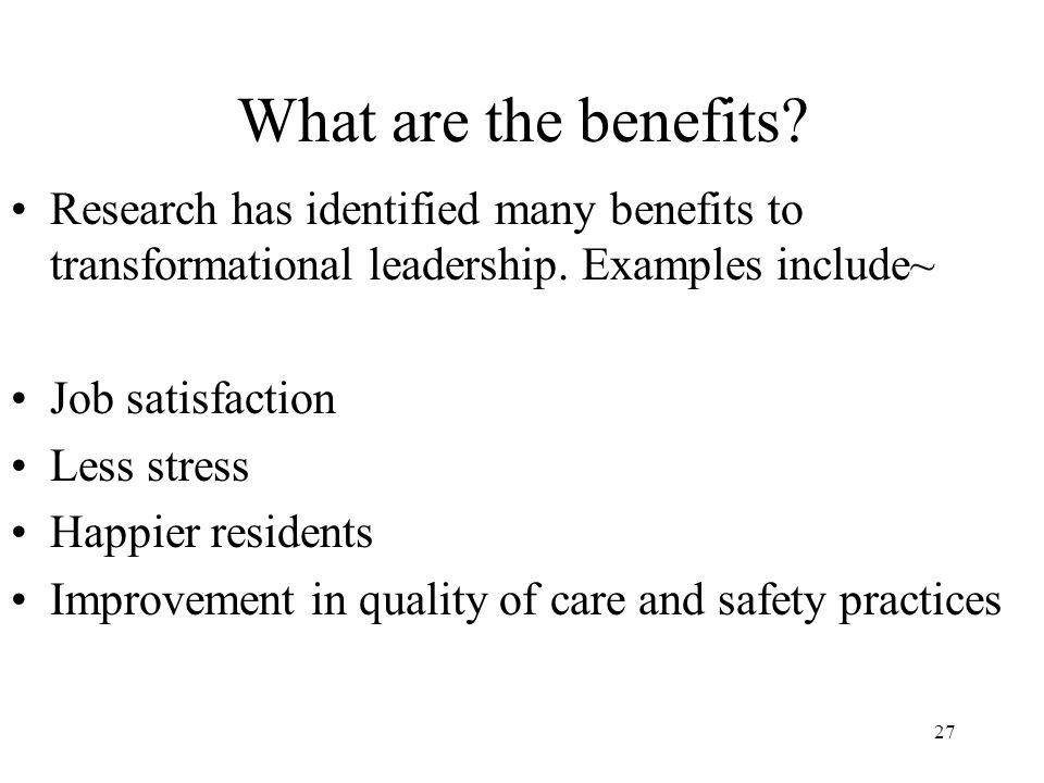 benefits of transformational leadership in healthcare
