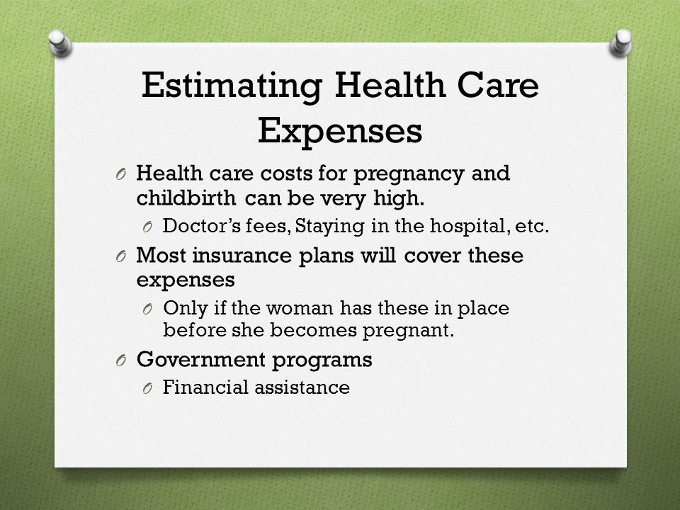 Estimating Health Care Expenses