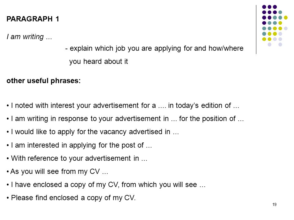 Applying for a Job Part 2: CV and Covering Letter
