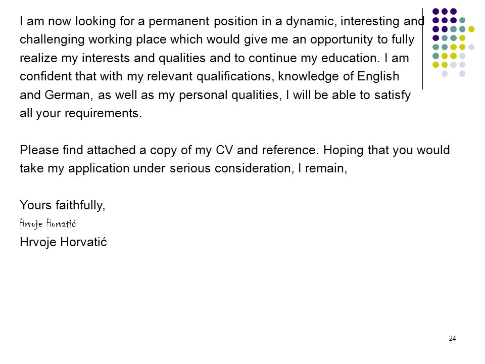 Kindly Find Attached My Cv For Your Consideration