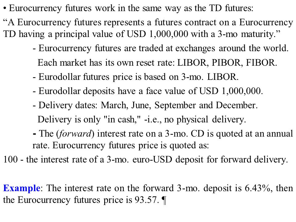 Eurocurrency Contracts Ppt