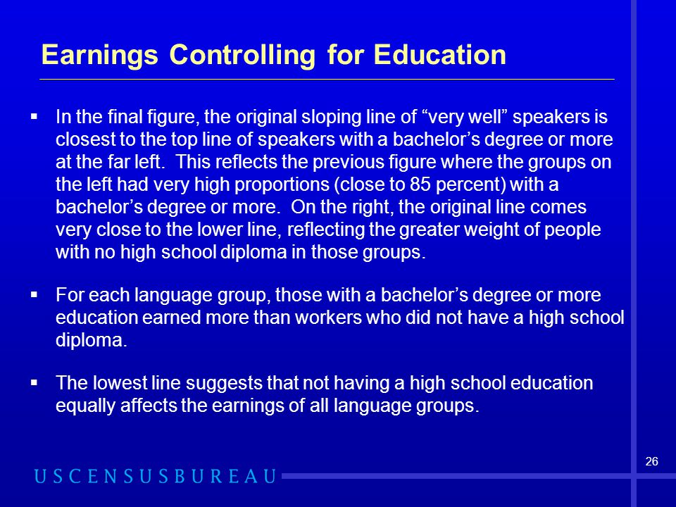 Earnings Controlling for Education