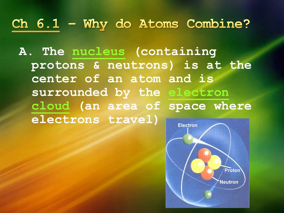 Ch 6.1 – Why do Atoms Combine