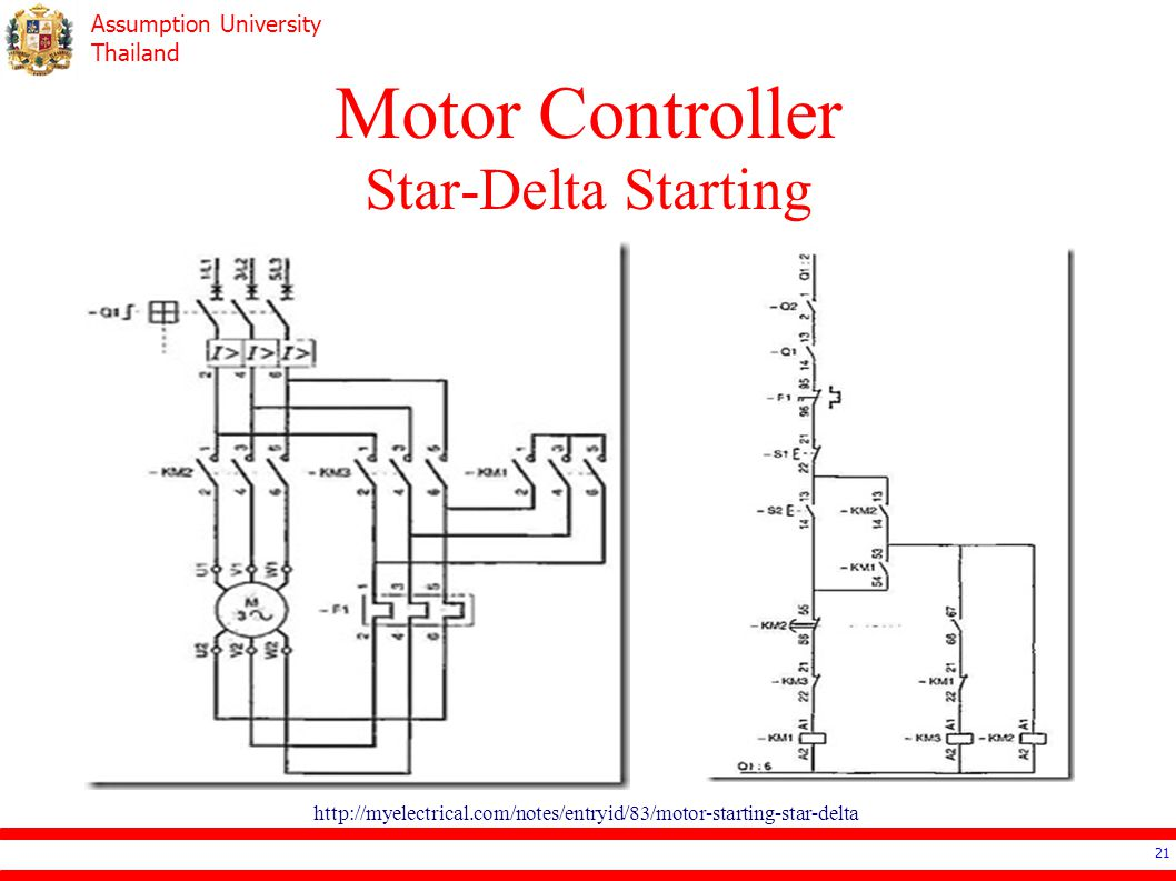 Ee4503 Electrical Systems Design Ppt Video Online Download Three Phase Wiring Diagram Motor Thermal Overload Relay Principle 21 Controller Star Delta Starting