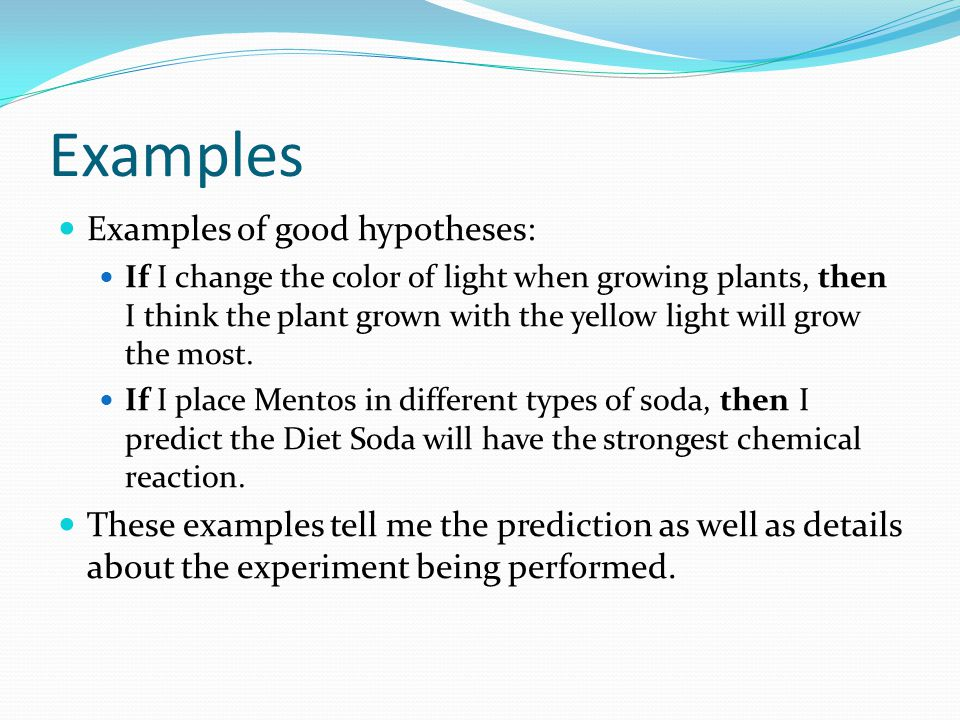 Example Of Hypothesis Choice Image Example Cover Letter For Resume