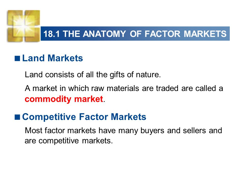 18.1 THE ANATOMY OF FACTOR MARKETS