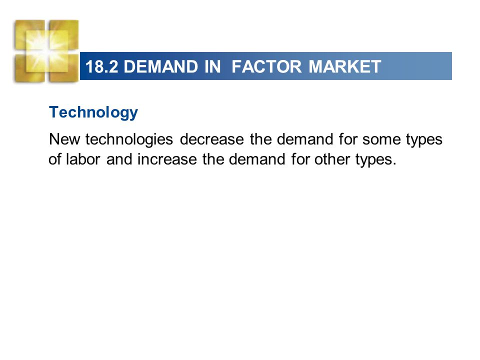 18.2 DEMAND IN FACTOR MARKET