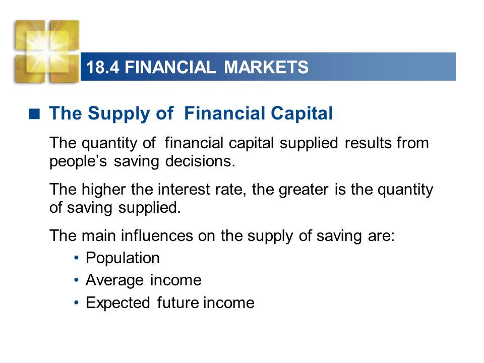 The Supply of Financial Capital