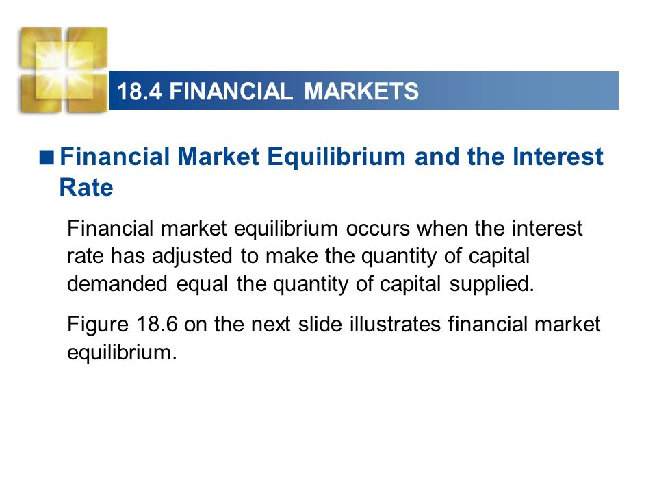 Financial Market Equilibrium and the Interest Rate