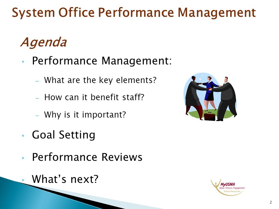 System Office Performance Management Agenda