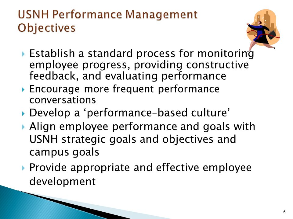 USNH Performance Management Objectives