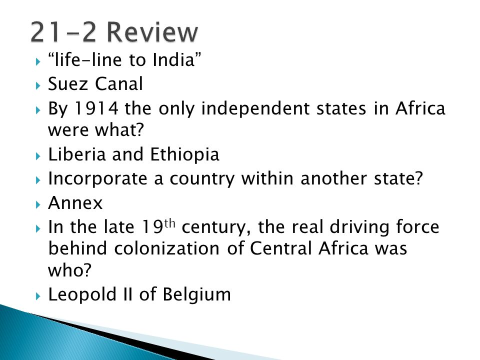 21-2 Review life-line to India Suez Canal